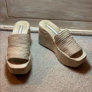 Zara Trafaluc jute platform sandal